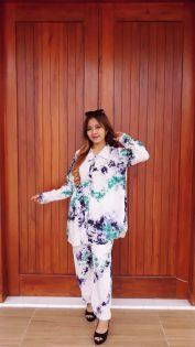 Baju Setelan Batik Jumputan Lengan Panjang