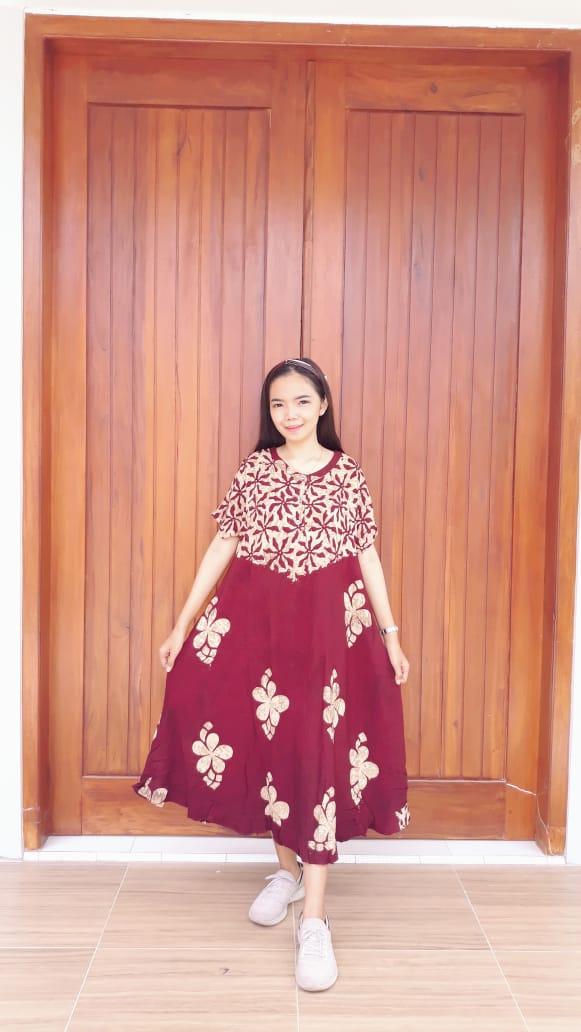 Daster Batik Amplop Semi Payung Pendek