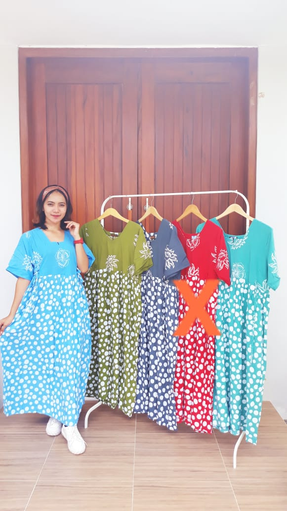 Daster Batik Chibi Warna Jumbo Panjang