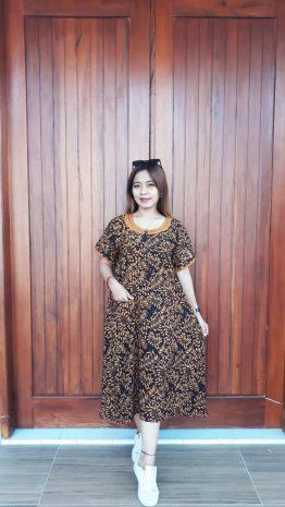 Daster Batik Ibu Lengan Pendek Cantik