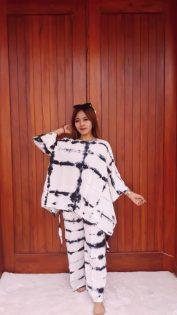 Daster Batik Jumputan Setelan Celana Panjang