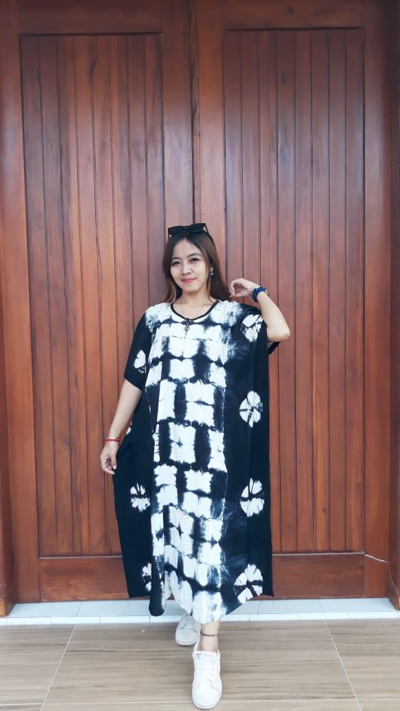 Daster Batik Jumputan Shibori Kelelawar Santung
