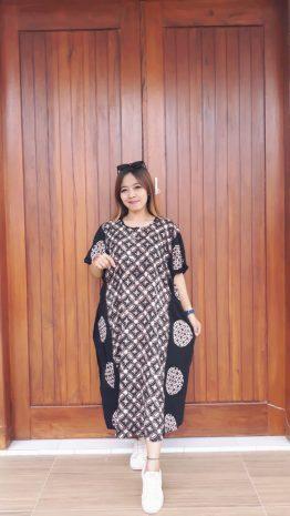 Daster Batik Kalong Monokrom Hitam Putih