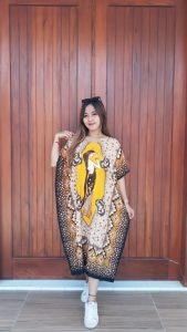 Daster Batik Kelelawar Oblong Lengan Pendek