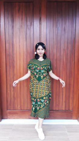 Daster Batik Lengan Pendek Ratu Busana