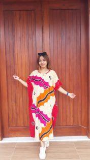 Daster Batik Lowo Pendek Santung Warna