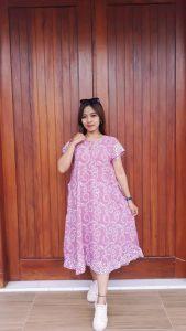 Daster Batik Midi Cantik Imanies Pastel