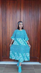 Daster Batik Panjang Susun Canda Pastel