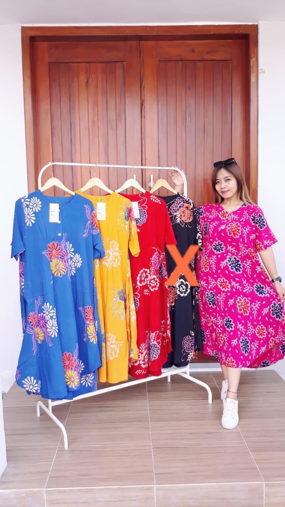 Daster Batik Payung Kancing Rit Depan