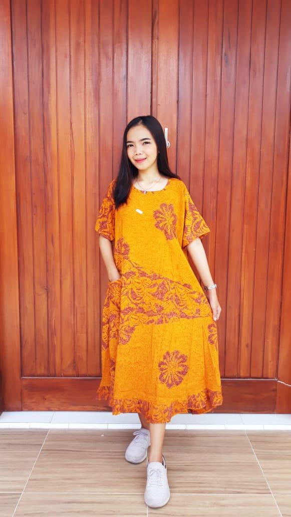 Daster Batik Payung Saku Lengan Pendek