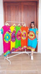 Daster Batik Pekalongan Jumputan Printing Warna
