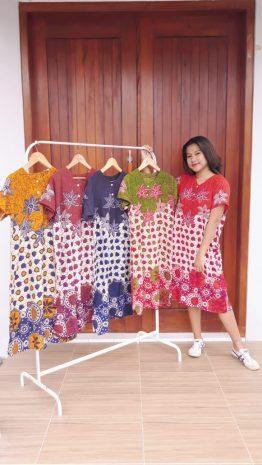 Daster Batik Pekalongan Santung Printing Murah
