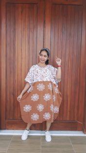 Daster Batik Pendek Model Kelelawar Cendana