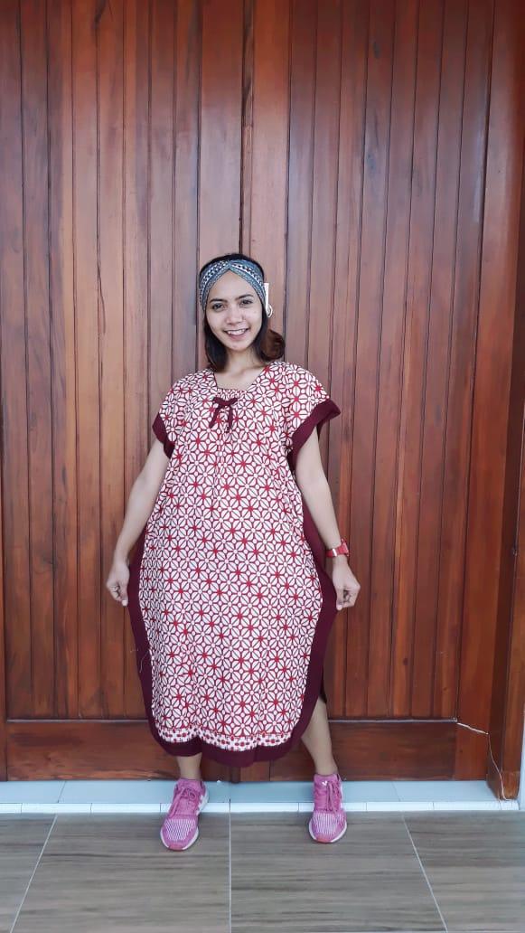 Daster Batik Printing Kelelawar Lengan Pendek