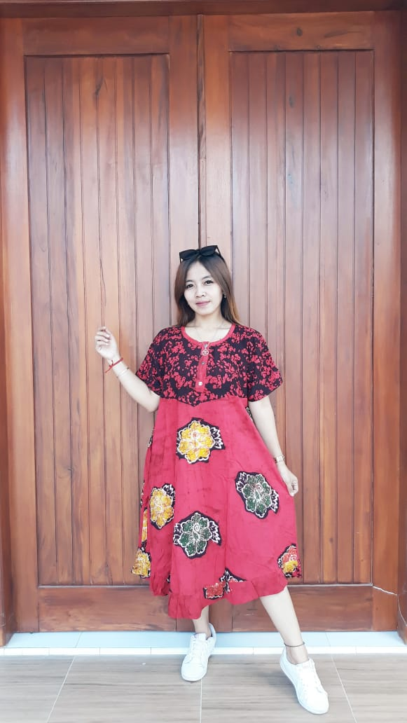 Daster Batik Semi Payung Amplop Pendek