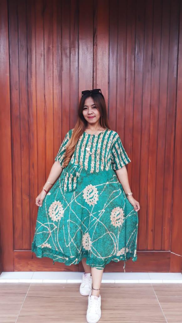 Daster Batik Semi Payung Lengan Pendek