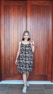 Daster Batik Tidur Gemes Tali Hitam