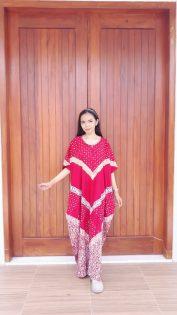 Daster Batik Warna Cendana Lengan Pendek