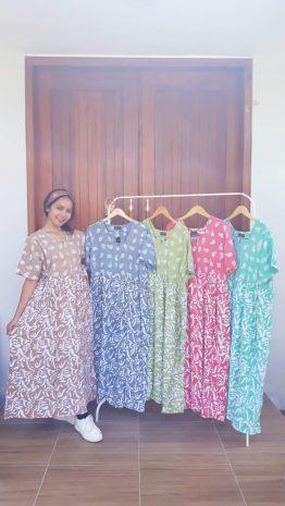Daster Chibi Batik Warna Lengan Pendek
