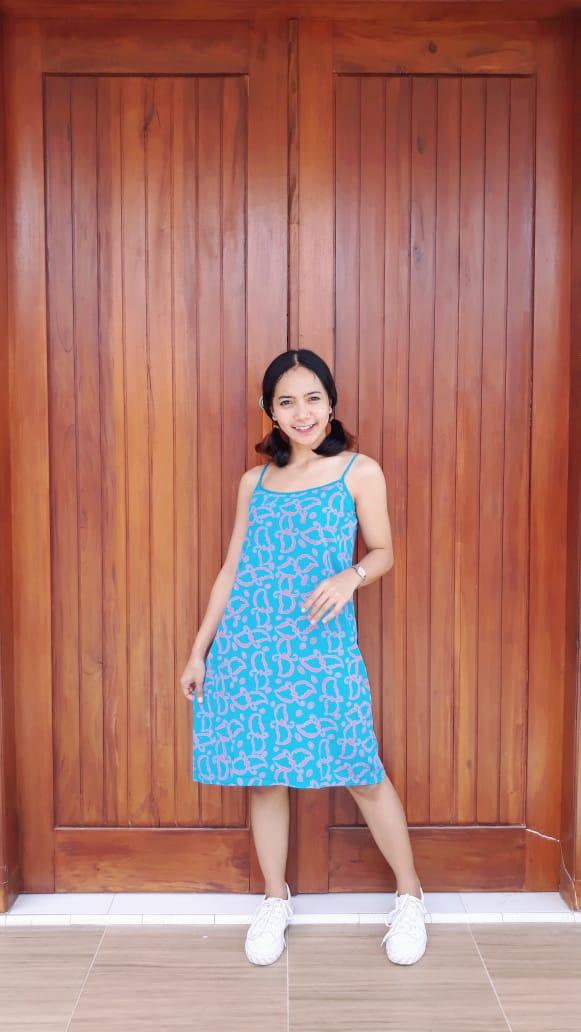 Daster Gemes Batik Tali Tanpa Lengan
