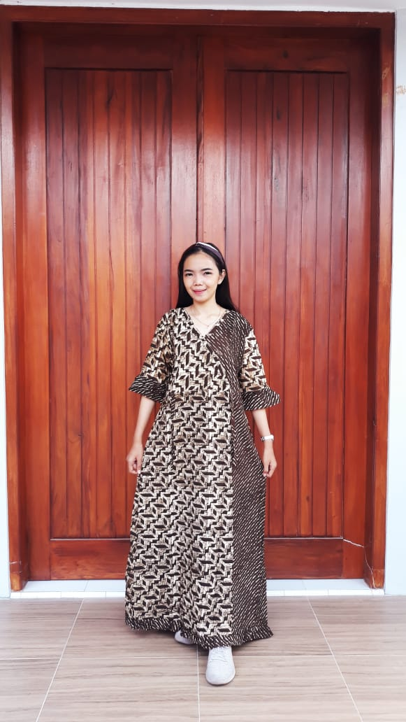 Daster Kimono Batik Standar Lengan 3/4