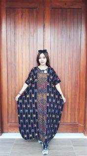 Long Dress Batik Cendana Halus Hitam