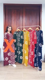 Long Dress Batik Isabella Lengan Panjang