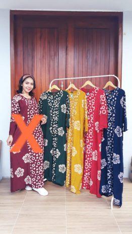 Long Dress Batik Isabella Lengan Panjang