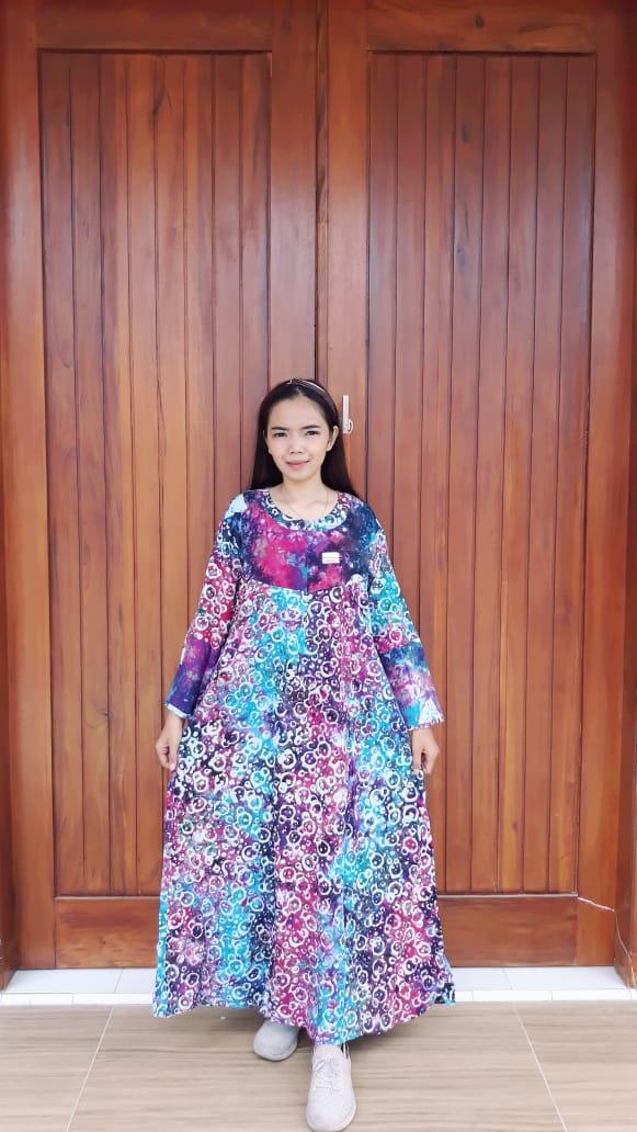 Long Dress Batik Isyana Lengan Panjang