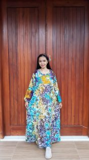 Long Dress Batik Isyana Lengan Panjang
