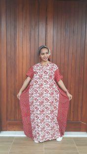 Long Dress Batik Kelelawar Cendana Pendek