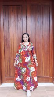 Long Dress Batik Lengan Panjang Isyana