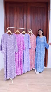Long Dress Isyana Batik Lengan Panjang