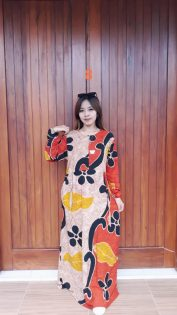 Long Dress Lengan Panjang Batik Talia