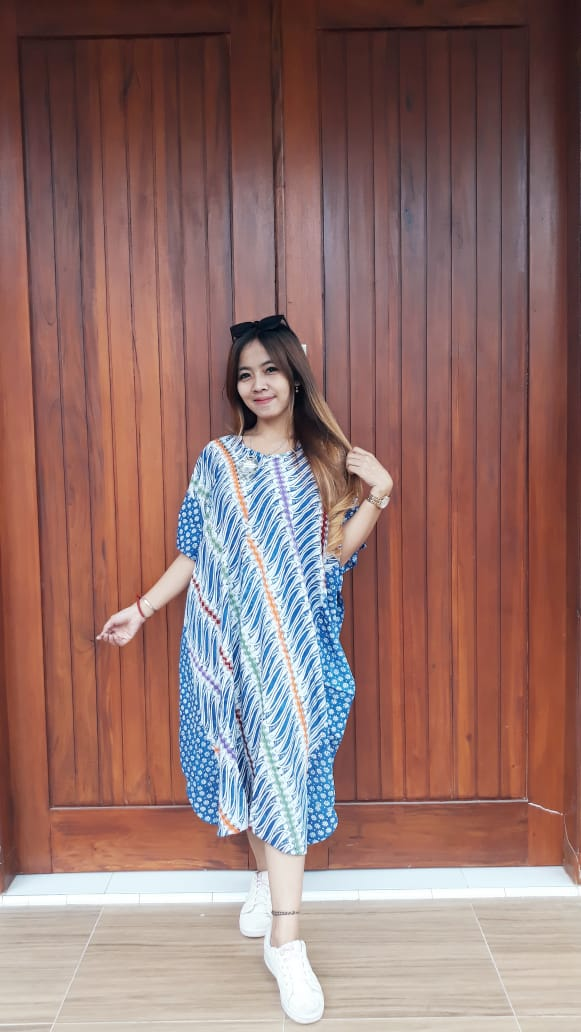 Long Dress Parang Batik Kelelawar Cendana