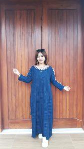 Long Dress Polos Renda Lengan Panjang