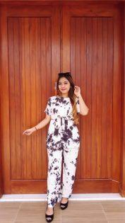 Setelan Batik Celana Panjang Lengan Pendek