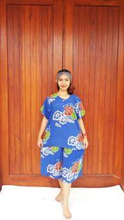 Setelan Celana Kulot Batik Pendek Warna