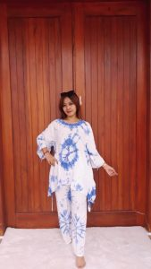 Setelan Celana Panjang Batik Jumputan Rayon