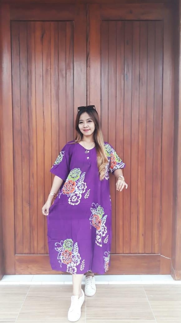 Baju Daster Batik Jumbo Lengan Pendek