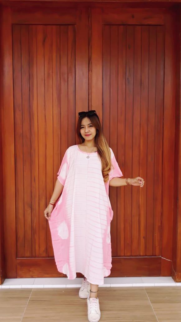 Baju Daster Batik Jumputan Oblong Kelelawar