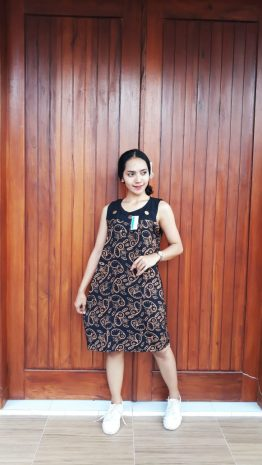 Baju Daster Batik Mini Hitam Yukensi