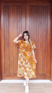 Baju Daster Batik Semi Payung Pendek