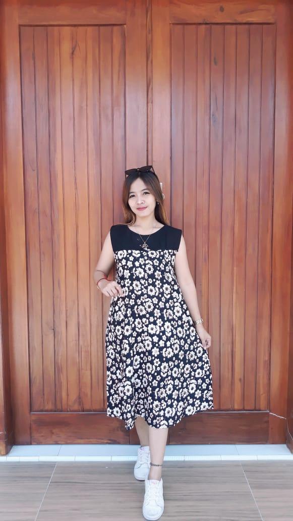 Baju Daster Batik Tanpa Lengan Cantik