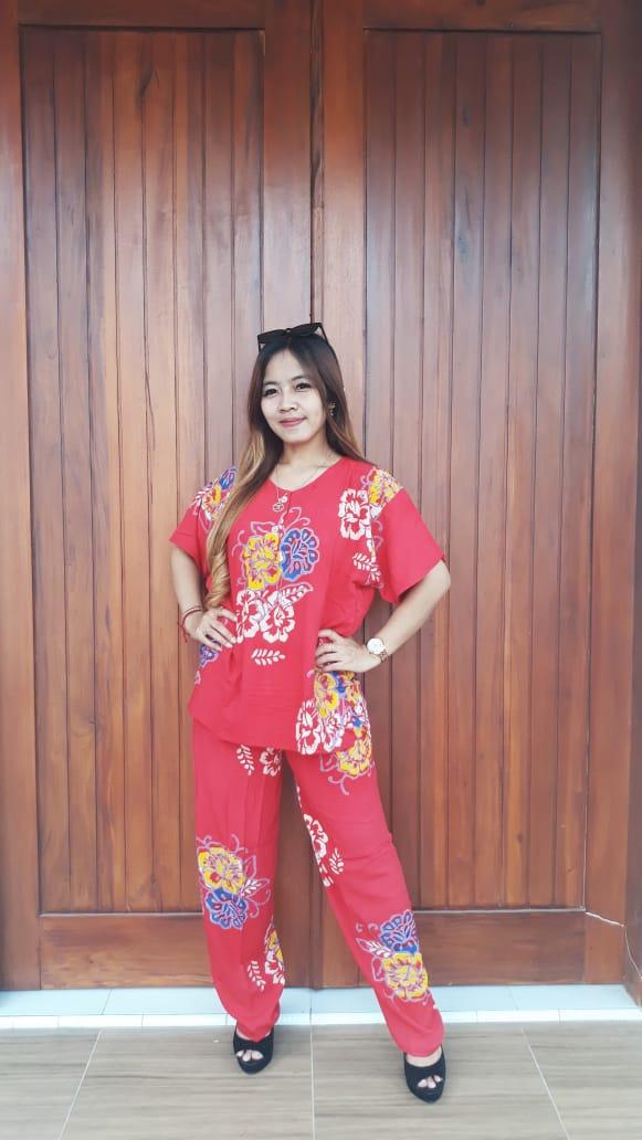 Baju Setelan Batik Celana Panjang Jumbo