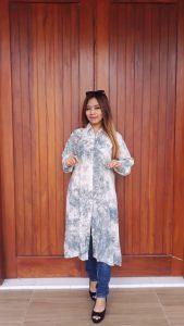 Baju Tunik Batik Tie Dye Jumputan