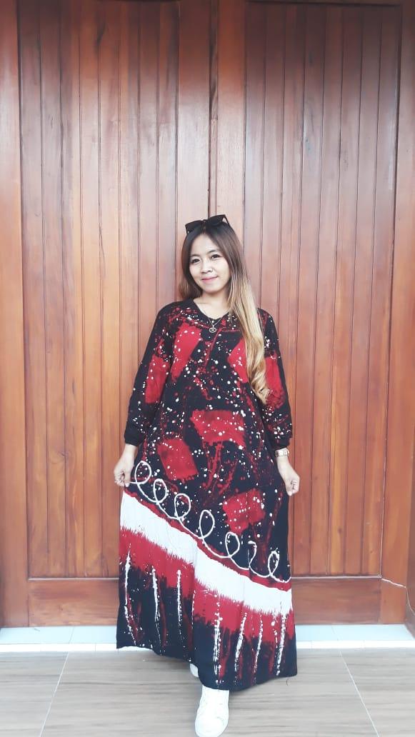 Gamis Batik Cap Malaman Semi Payung