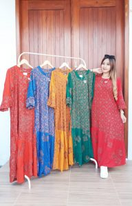 Long Dress Batik Meisha Lengan Panjang