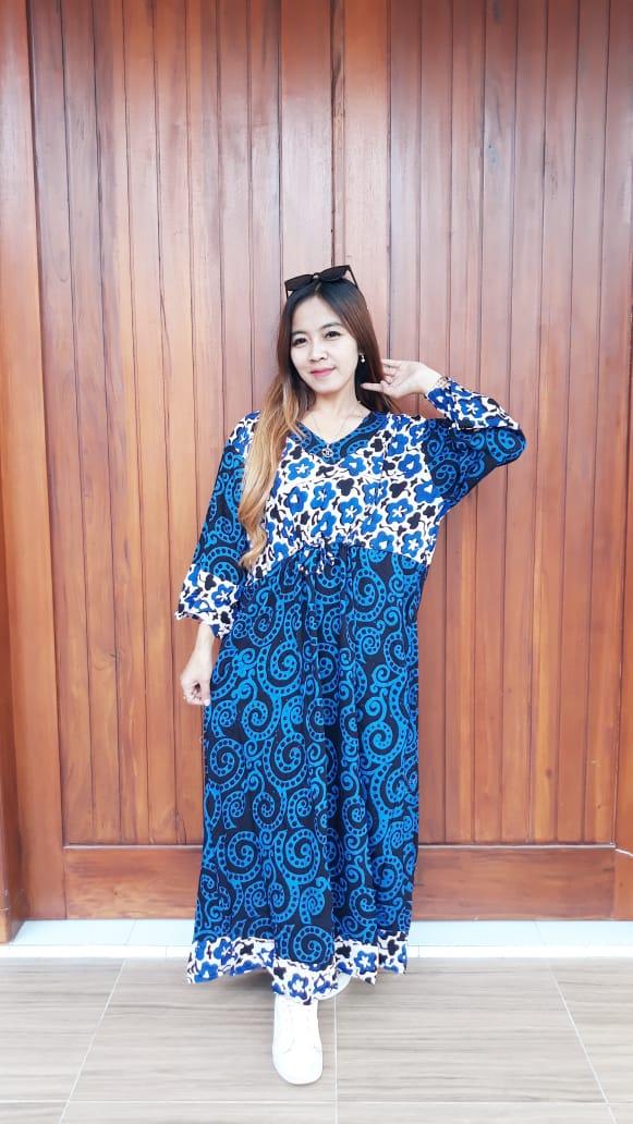 Long Dress Maura Jumbo Lengan 7/8