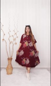 Baju Daster Batik Payung Lengan Pendek